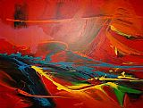 2010 Sea Dream in Red II painting