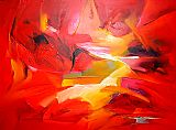 2010 Sea Dream in Red V painting