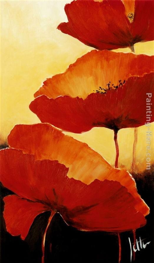 2011 Three Red Poppies II