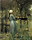 2011 A Girl in A Meadow by William Stott painting