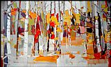 2011 Fall Birches painting