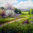 2011 Gerhard Nesvadba Path Through the Blossoms painting