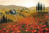 2011 Hills of Tuscany II painting