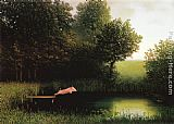michael goddard 7 deadly zins Canvas Prints - Michael Sowa Kohler's Pig