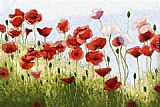 2011 Mountain Poppies III painting