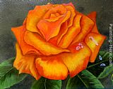 2011 Orange Rose painting