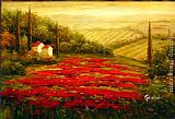 2011 Red Poppies in Tuscany painting