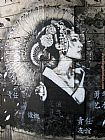 2011 Street Art by Fin DAC painting