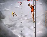 2011 Two High Divers painting