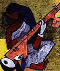 2011 sitar player painting