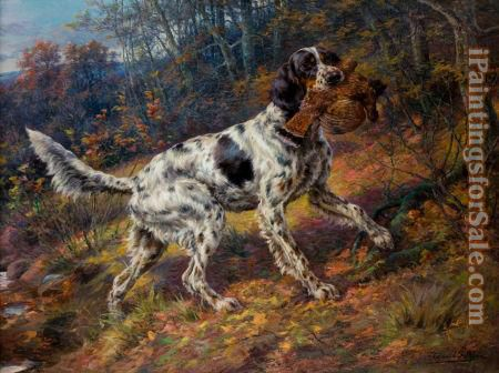 2012 English Setter with grouse