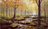 2012 Autumn Gold Rush Landscape by Peter Ellenshaw painting