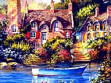 2012 Jim Mitchell cottage charm painting