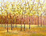 2012 Libby Smart Yellow and Green Trees painting