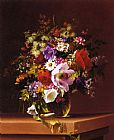 Adelheid Dietrich Wildflowers in a Glass Vase painting