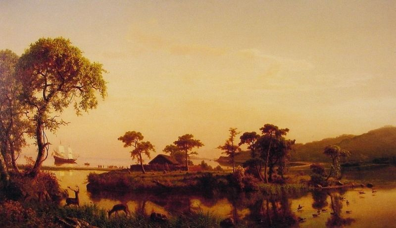 Albert Bierstadt Gosnold at Cuttyhunk 1602