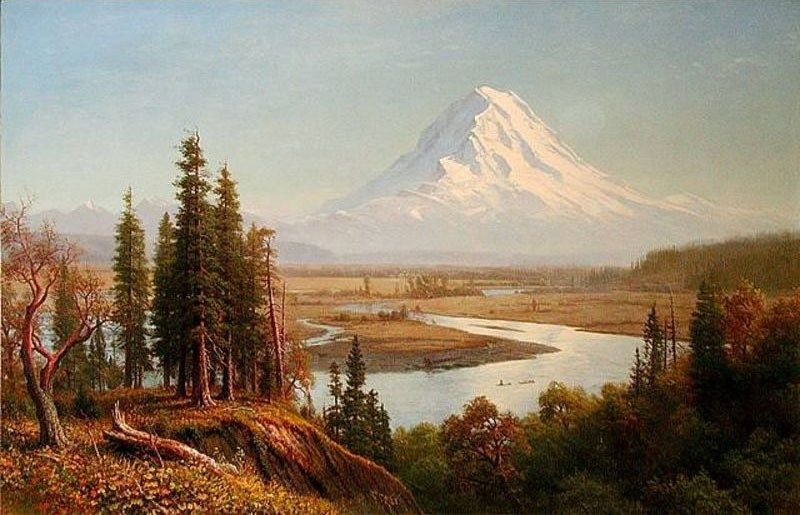 Albert Bierstadt Mount Rainier