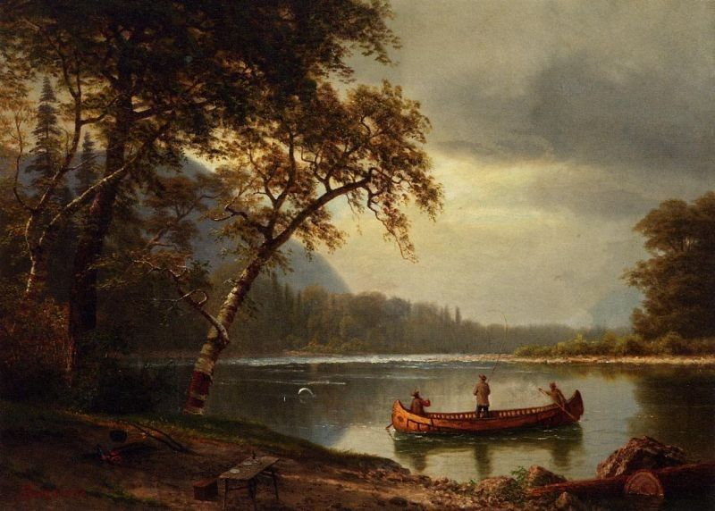Albert Bierstadt Salmon Fishing on the Cascapediac River