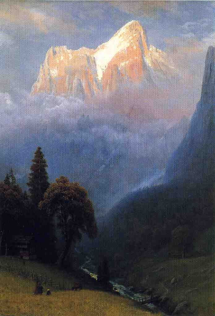 Albert Bierstadt Storm Among the Alps