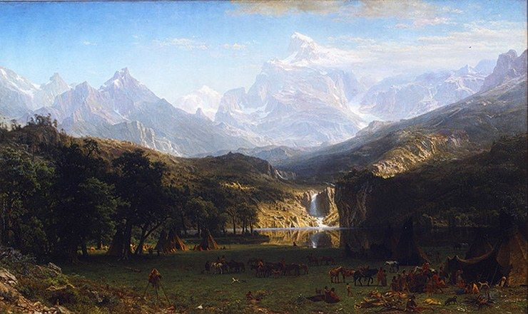 Albert Bierstadt The Rocky Mountains, Landers Peak