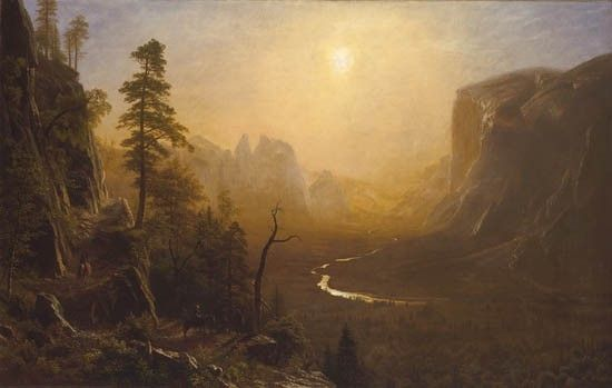 Albert Bierstadt Yosemite Valley, Glacier Point Trail