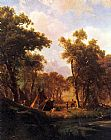 Albert Bierstadt Indian Encampment, Shoshone Village painting