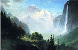 Albert Bierstadt Staubbach Falls, Near Lauterbrunnen, Switzerland painting