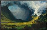 Albert Bierstadt Storm In The Mountains painting