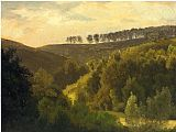 Albert Bierstadt Sunrise over Forest and Grove painting