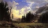 Landscape paintings - The Morteratsch Glacier Upper Engadine Valley Pontresina by Albert Bierstadt