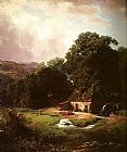 Albert Bierstadt The Old Mill painting