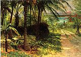Albert Bierstadt Tropical Landscape painting