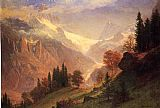 Albert Bierstadt View of the Grindelwald painting