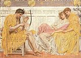 Albert Moore A Musician painting