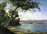 Alexander Helwig Wyant Falls of the Ohio and Louisville painting