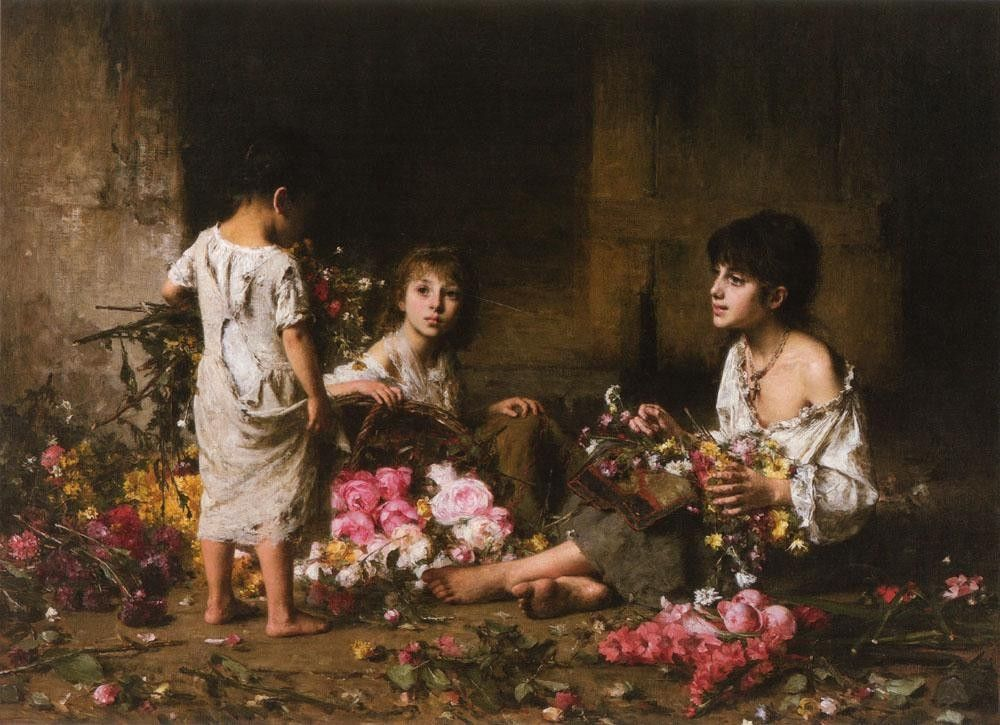Alexei Alexeivich Harlamoff The Flower Girls