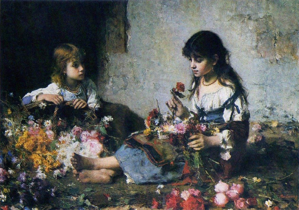 Alexei Alexeivich Harlamoff The Little Flower Seller