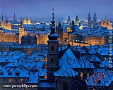 Alexei Butirskiy An Evening In Prague painting