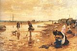Alfred Glendening A day at the seaside painting