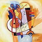 Alfred Gockel Jazz on the Square painting