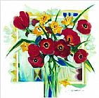 red poppies Framed Prints - Red Poppies In Vase