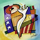 Alfred Gockel Stars & Stripes II painting