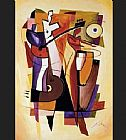 Alfred Gockel The Beat Goes On painting