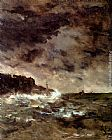 Alfred Stevens A Stormy Night painting