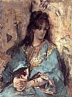 Alfred Stevens A Woman Seated in Oriental Dress painting