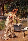 Alfred Stevens Afternoon in the Park painting
