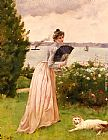 Alfred Stevens La Dame A L'Eventail painting