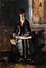 Alfred Stevens Portrait of a Young Woman painting