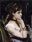 Alfred Stevens Woman Wearing a Bracelet painting