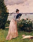 Alfred Stevens Woman with a Fan painting